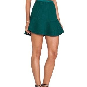 LINE & DOT ANTHRO FIT & FLARE QUILTED SKATER SKIRT
